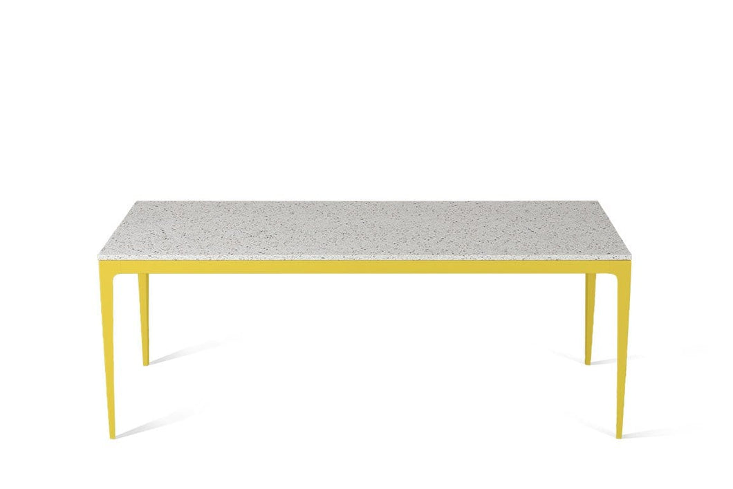 Nougat Long Dining Table Lemon Yellow