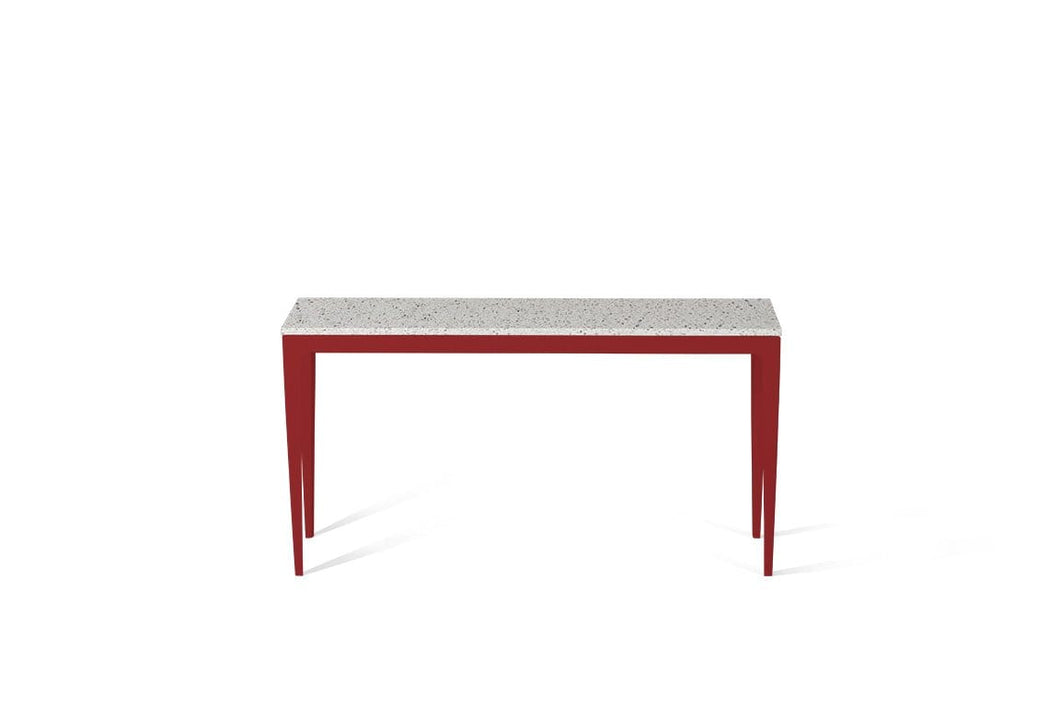 Nougat Slim Console Table Flame Red