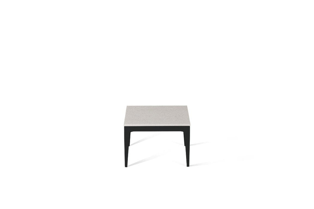 Ice Snow Cube Side Table Matte Black