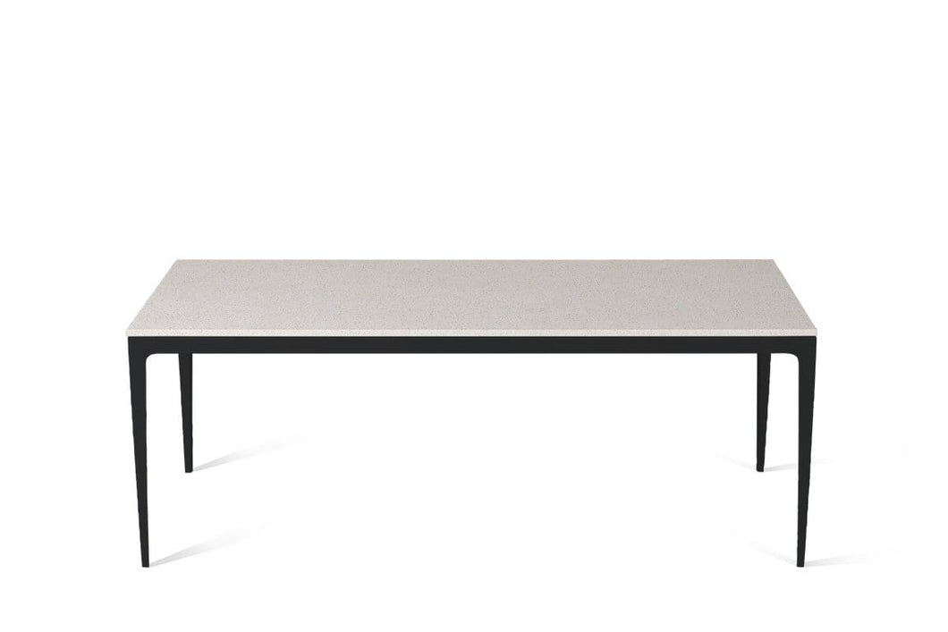Ice Snow Long Dining Table Matte Black