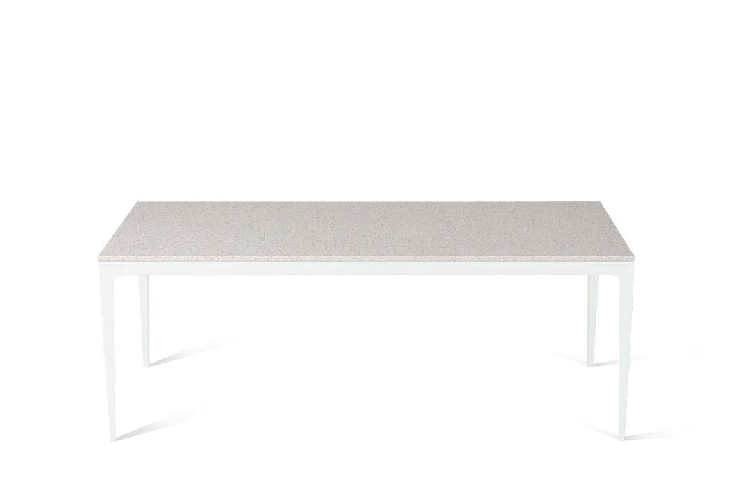 Ice Snow Long Dining Table Pearl White