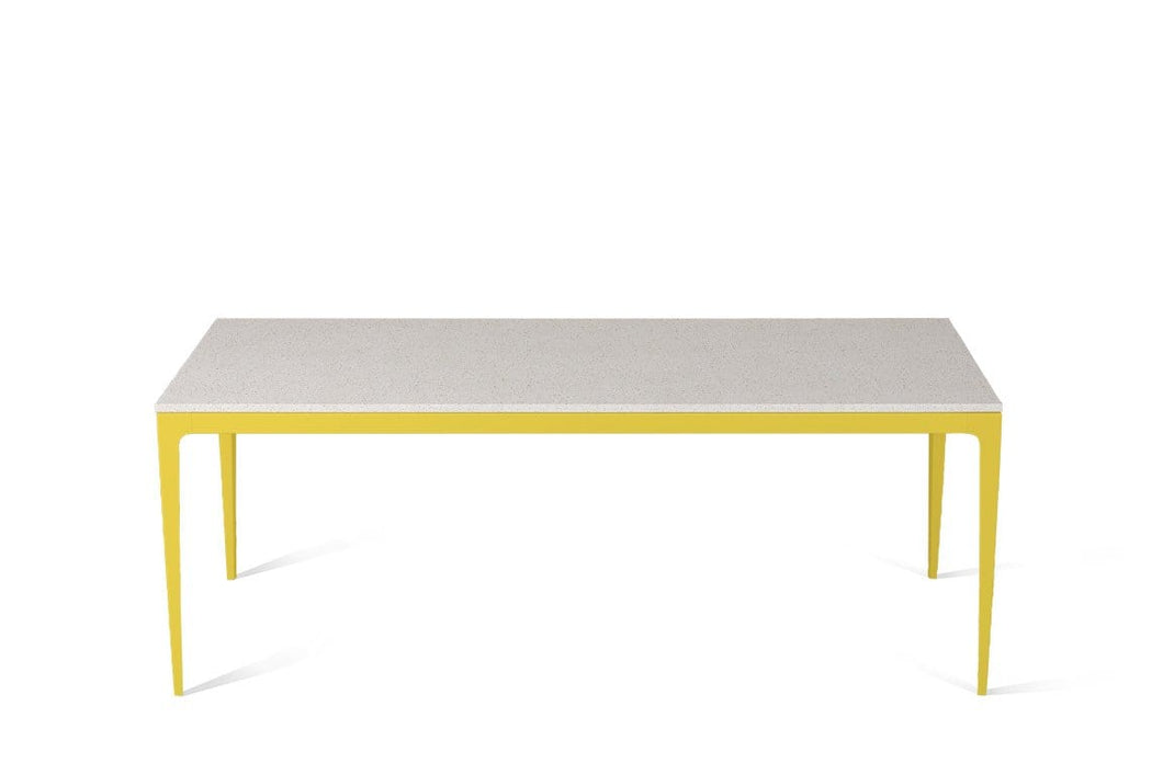 Ice Snow Long Dining Table Lemon Yellow