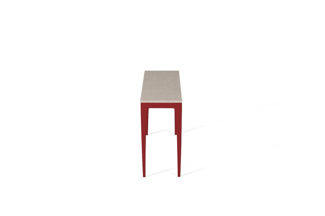 Ice Snow Slim Console Table Flame Red