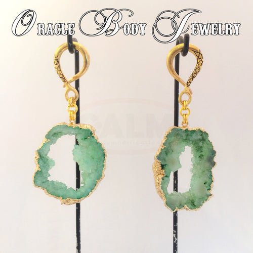 Gold Plated Geode (Green)