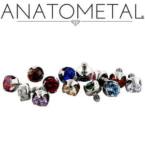Prong-set gem end - Threaded