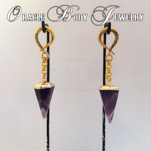 Gold Plated Amethyst Point
