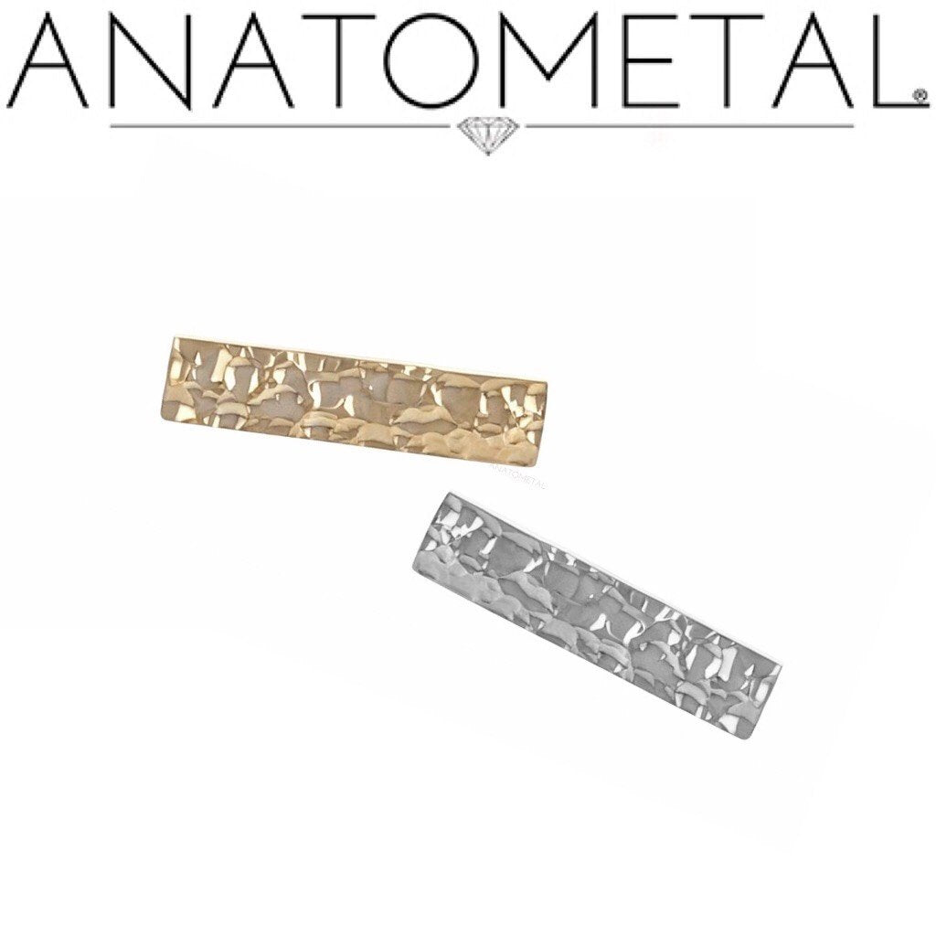 Hammered Rectangle (18k) -PUSH FIT-
