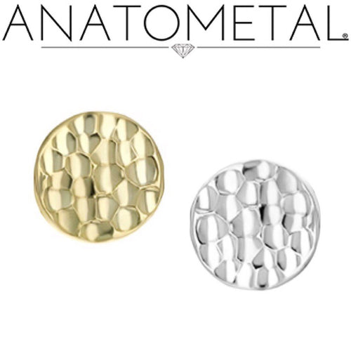 Hammered disk (18k) -PUSH FIT-