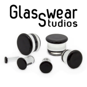 Color front glass plug (black)