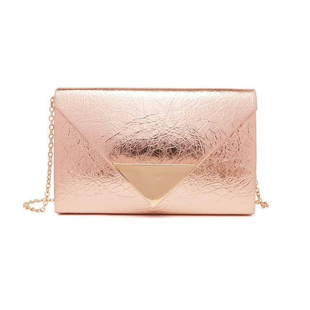 Riri Hardcase Clutch Rose Gold