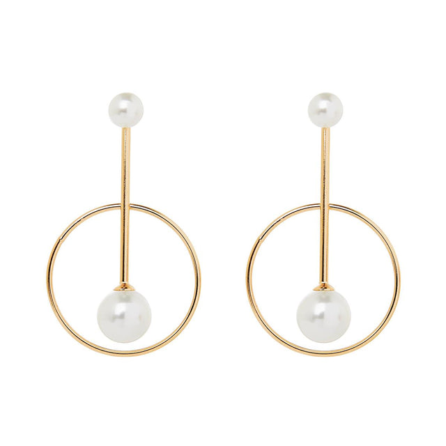 Iris Drop Earring Pearl Gold