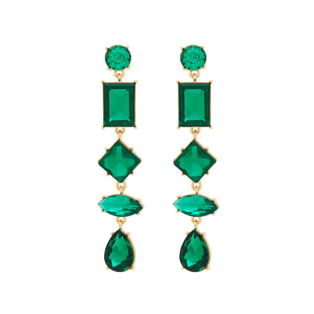 Tara Statement Drop Emerald