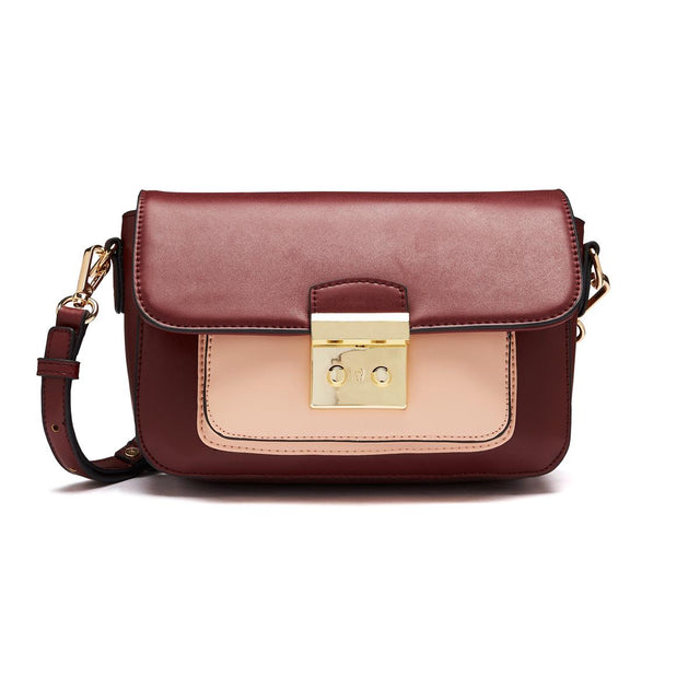 Abigail Satchel Cross Body Berry