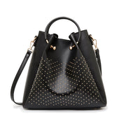 Rachel Large Tote Black Gold