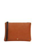 Sage Zip Clutch Brown