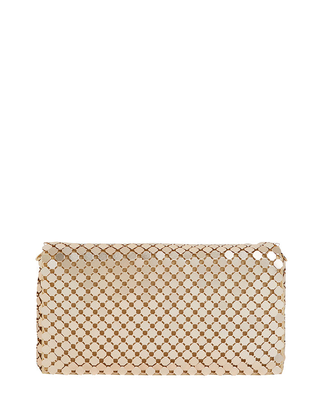 Kadin Mesh Clutch Gold