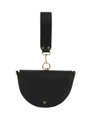 Keira Saddle Purse Black