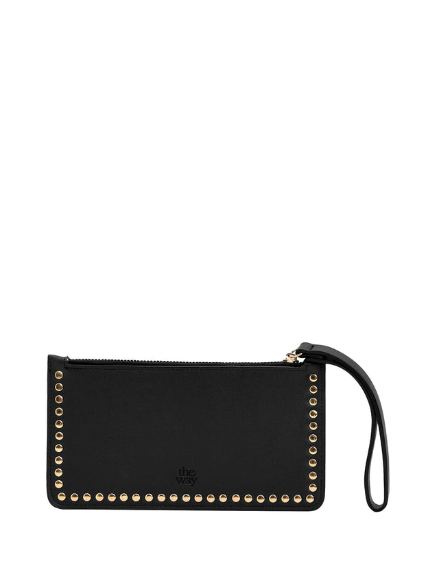 Lucy Zip Purse Black & Gold