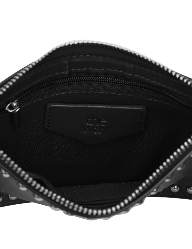 Lucy Zip Purse Black & Silver