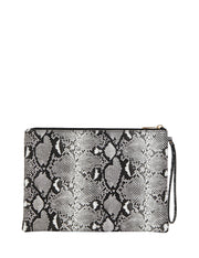 Luna Zip Purse Black Python