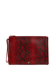 Luna Zip Purse Red Python
