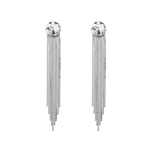 Evelyn Drop Earring Crystal Rhodium