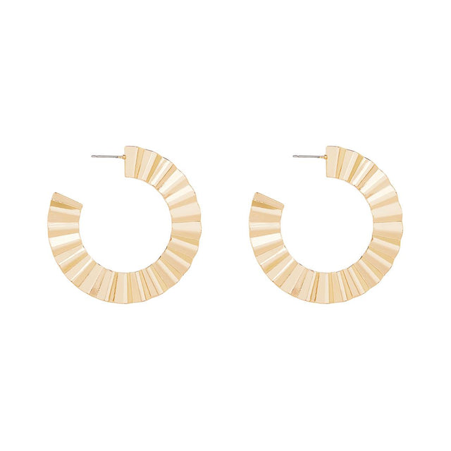 Daisy Crimped Hoop Gold