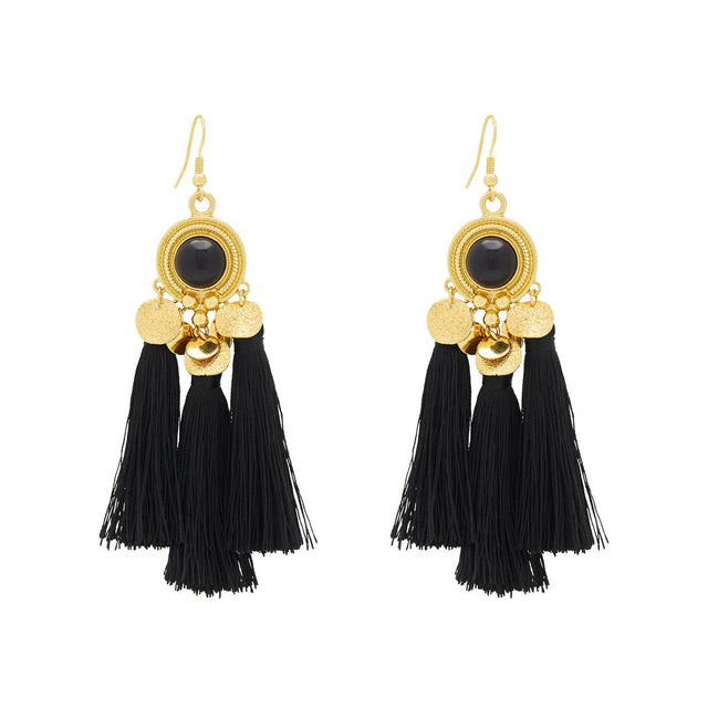 Alondra Tassel Drop Black