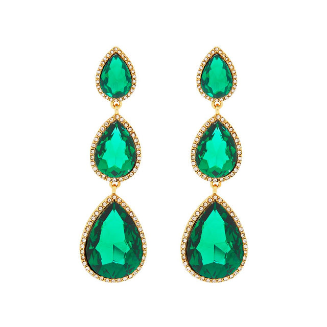 Kenzie Drop Earring Emerald
