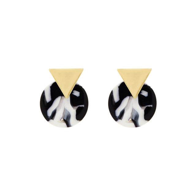 Cleo Geometric Stud Black