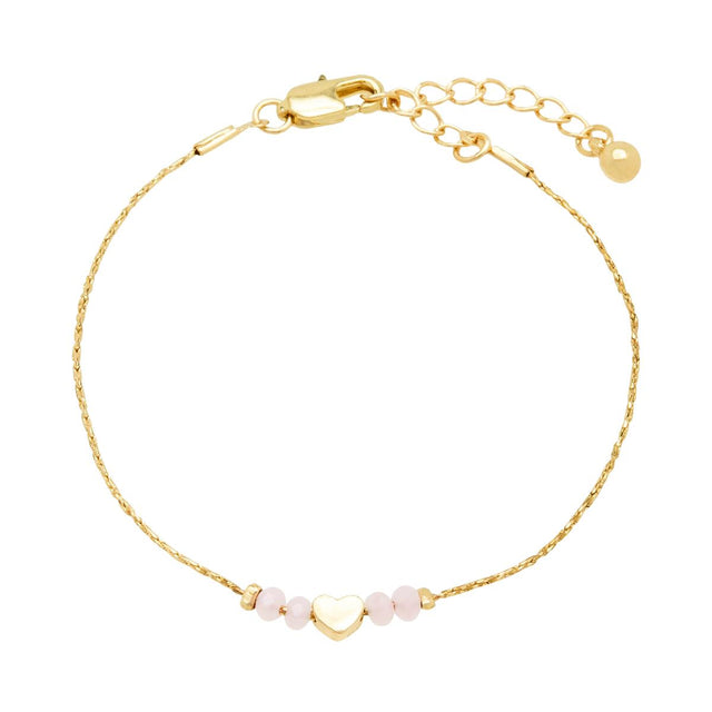 Briella Heart Bracelet Pink