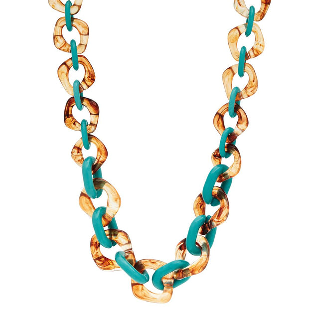 Mikayla Chunky Short Necklace Green