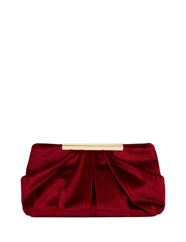 Eliza Soft Clutch Berry