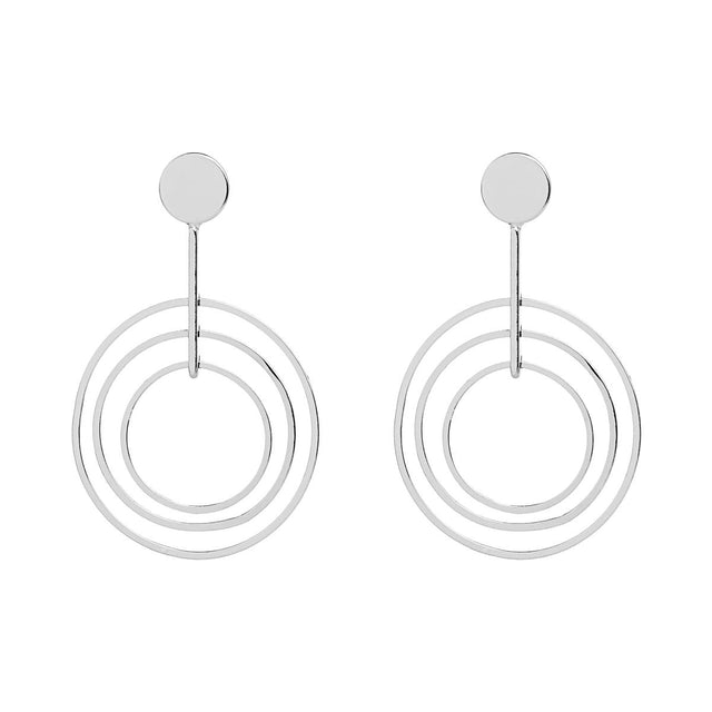 Isabel Hoop Drop Silver