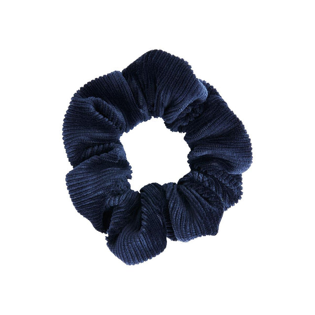 Maria Velour Scrunchie Navy