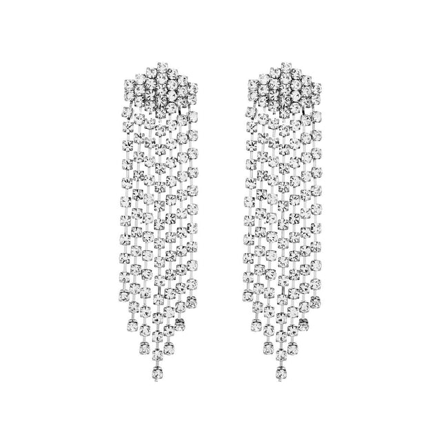 Efa Drop Earring Crystal Silver