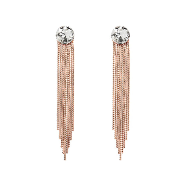 Evelyn Drop Earring Crystal Rose Gold