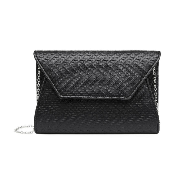 Alice Foldover Clutch Black