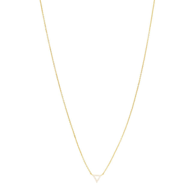 Vita Trangle Short Necklace Crystal