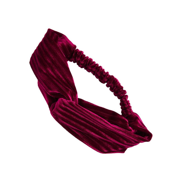 Evelynn Velour Headband Berry