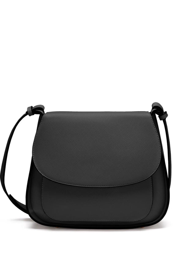 Ashley Saddle Cross Body Black