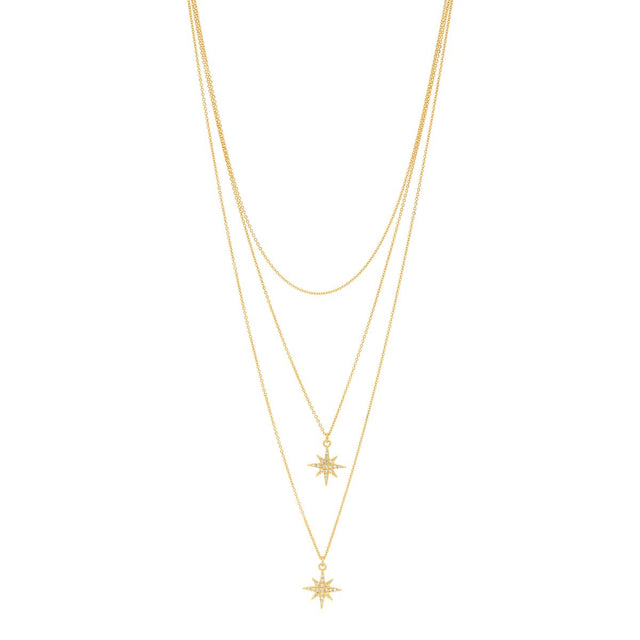 Everly Star Midi Necklace Gold