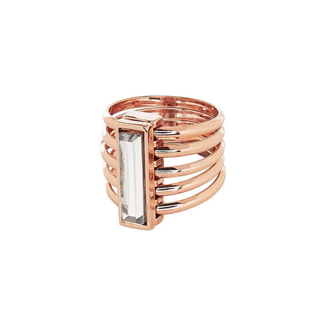 Mila Cocktail Ring Crystal Rose Gold
