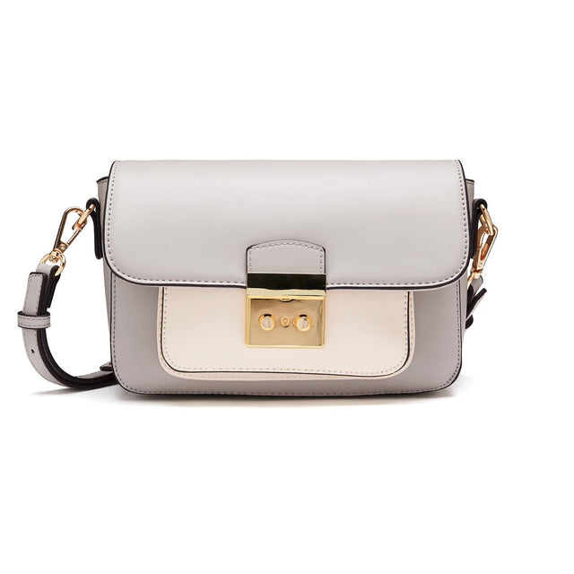 Abigail Satchel Cross Body Grey