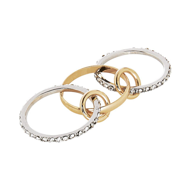 Laurel Linked Stackable Ring Mixed metal
