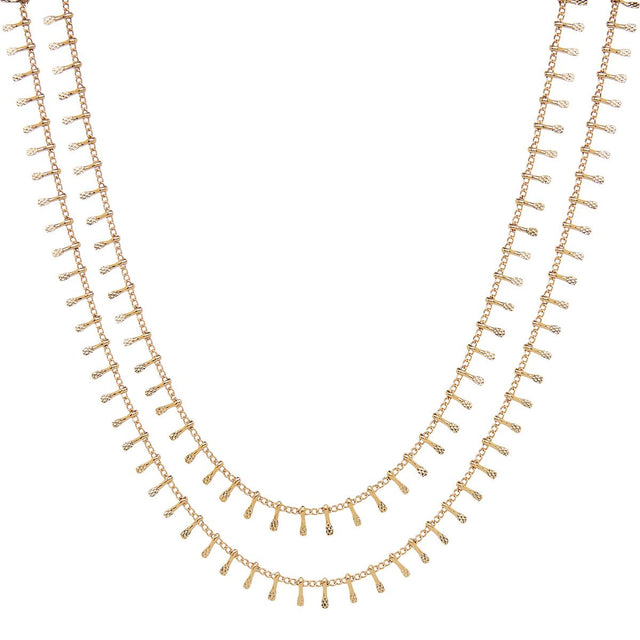 Rosabel Layered Choker Gold