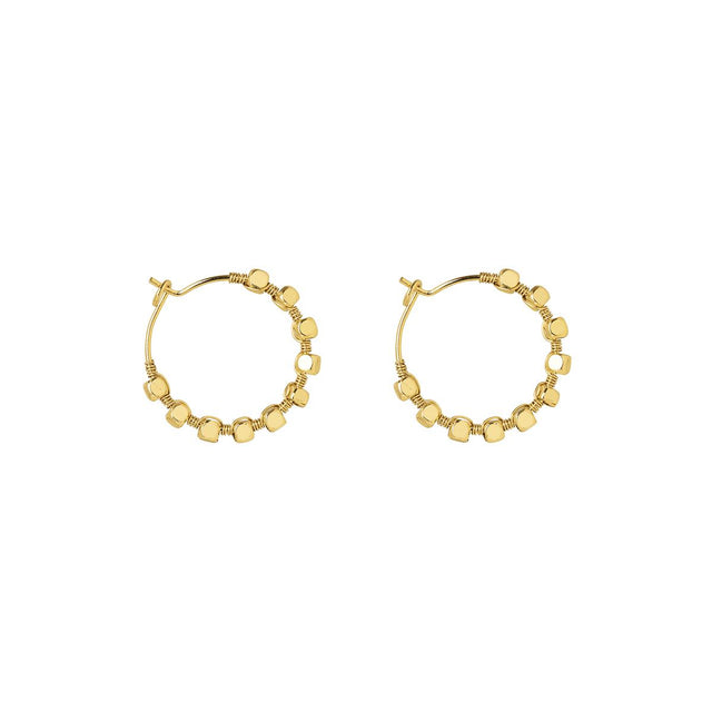Madilyn Bead Hoop Gold