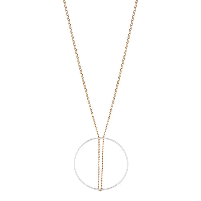 Colette Circle Long Necklace Mixed metal