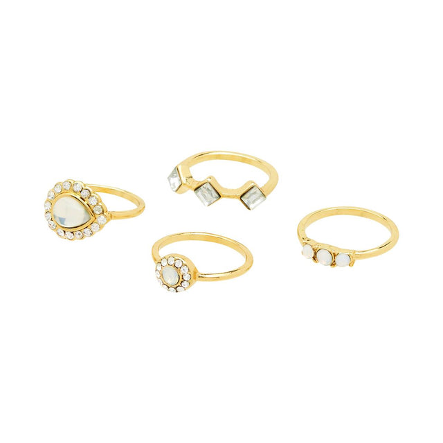 Chelsea Assorted Stackable Ring Crystal