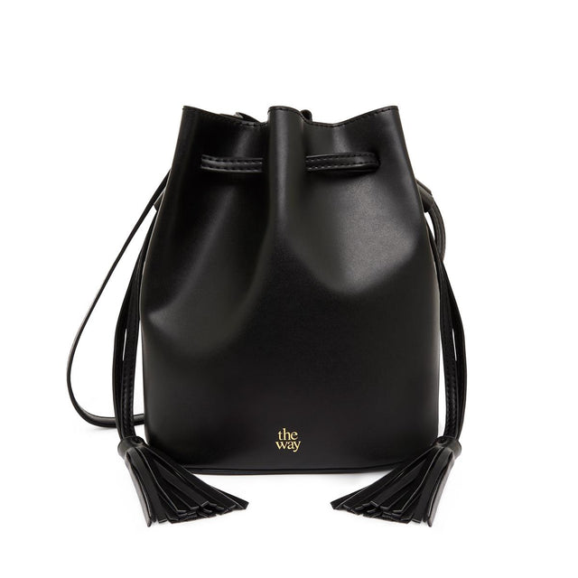 Adriana Drawstring Bucket Black